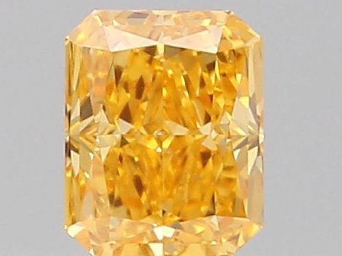 GIA Certified vivid Yellow Orange Diamond Radiant GIA certified
