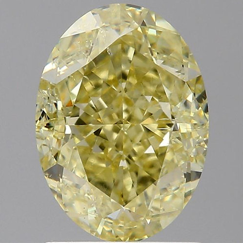 1.7 carat  F Yellow Diamond oval GIA certified