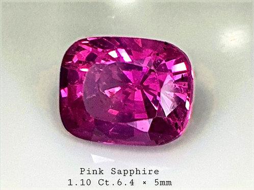 1.10 carat Pink Sapphire 6.4 x 5 mm