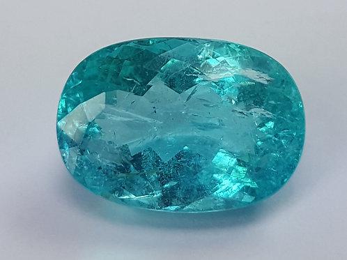 7.61 Ct Natural Paraiba Tourmaline Neon Greenish Blue from Mozambique