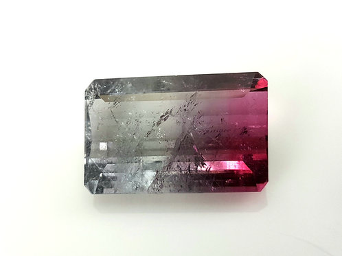 US$ 50 P/C, Old mine 31.37 ct Bi Color Tourmaline loose stone from Brazil