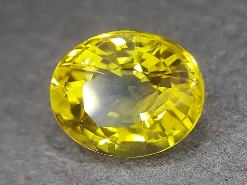 NATURAL canary yellow Sapphire from Thailand