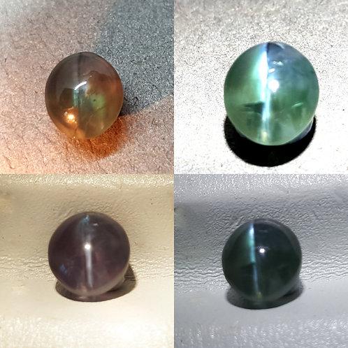 Natural 2.015 ct cats eye alexandrite green to greyish pink