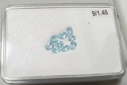 1.46 carats Paraiba Tourmaline 9 pcs oval gemstone