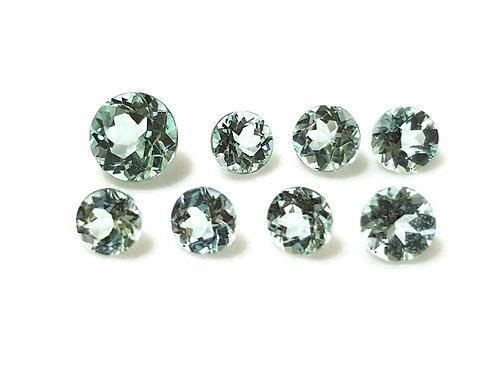 2.32 carats Paraiba Tourmaline 3.8 - 5.4 mm size Round