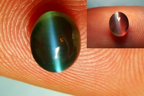 1.10 cts Natural Color change Alexandrite cat's Eye.
