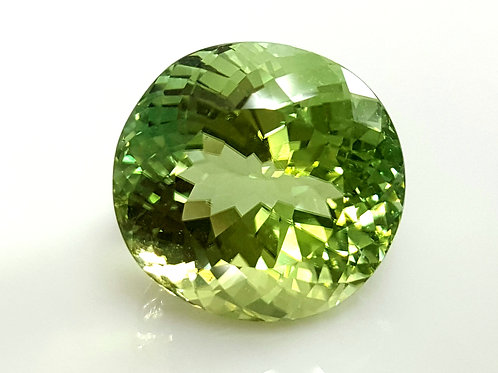Magnificent 18.38 ct Mint Green Tourmaline VVS loose gemstone from Mozambique