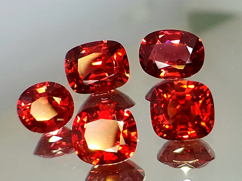 7.30 ct Natural Burma Red Spinel lot
