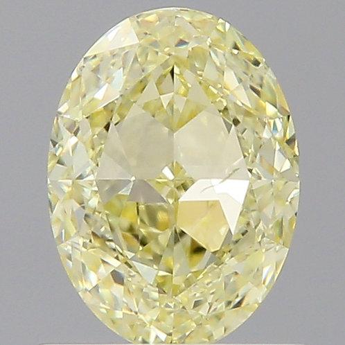 2.5 carat  Fancy Yellow Diamond Oval GIA certified