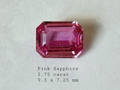 US $1100 PC / 2.75 carat Natural Pink Sapphire from Sri Lanka