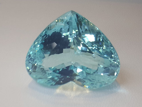 US1800 P/C, 52 ct Natural Paraiba Tourmaline Heart Cut from Mozambique