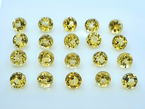 365 carats, Natural Tourmaline 2 mm round