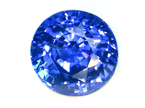 GIA Certified 7.53 ct Natural Blue Sapphire Round Brilliant cut, see video