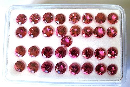 US$ 35 P/C, 5 mm size Pink Tourmaline round brilliant cut