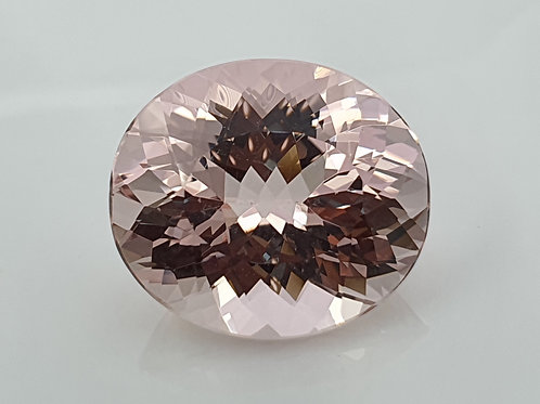 US $65/ct, 15.43 ct Natural Pink Morganite from Brazil