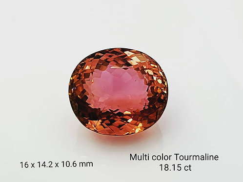 18.15 carat Natural Tourmaline oval from Mozambique
