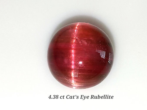 4.38 ct Natural Cats Eye Pink Tourmaline loose gemstone