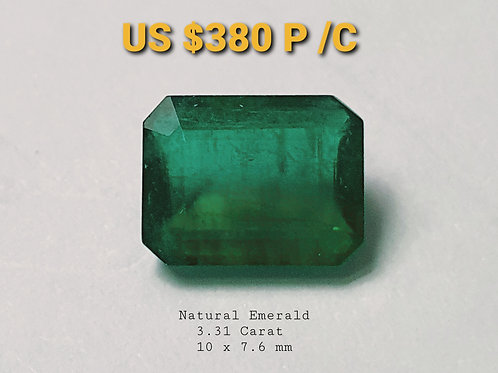 3.31 carat Natural Emerald vivid green like crystal from Brazil