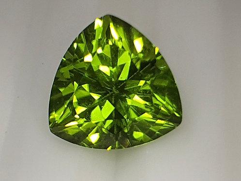 3.42 carats Peridot Trillion Shape from China