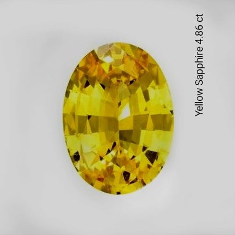 4.88 Cts Natural Unheated Yellow Sapphire
