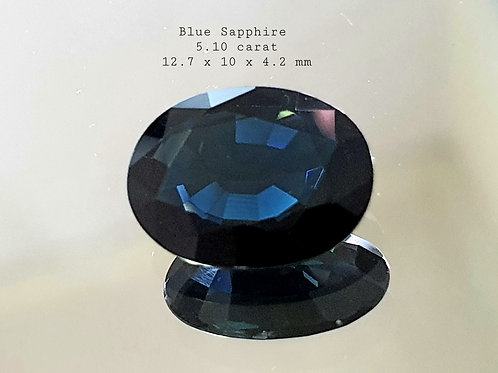 US $270, 5.10 carat Natural Blue Sapphire dark blue from Thailand