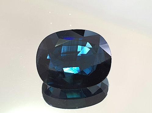 US $288 , 4.65 carat Natural Blue Sapphire dark blue from Thailand