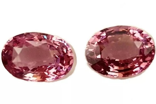 Tajikistan Pink Spinel 3.53 ct Oval calibrated matching Pair loose gemstone