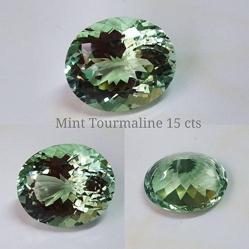 Stunning 15 ct Mint Green IF clarity Tourmaline