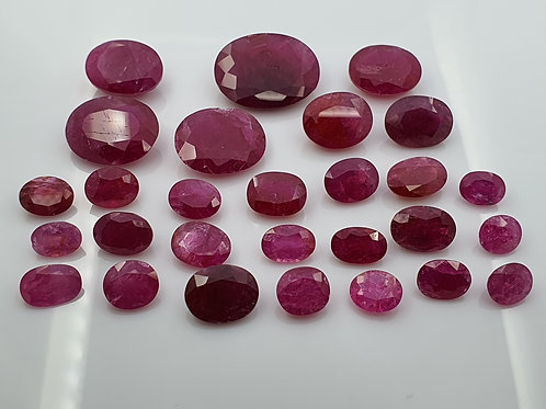 Natural Ruby 106.7 carat lot loose heat only gemstone