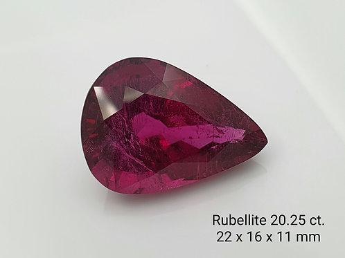Natural Rubellite Tourmaline 20.25 ct loose stone