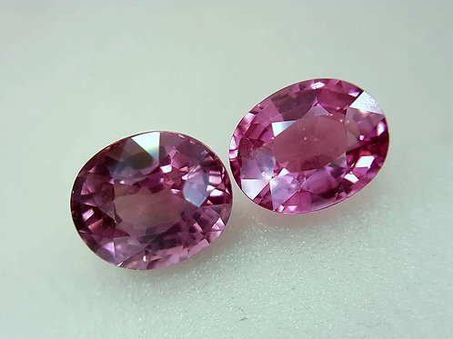 Natural Pink Spinel 3.48 Ct Oval matching Pair loose gemstone see video