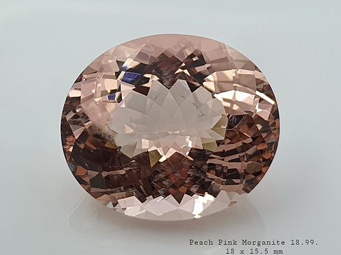 15.99 ct Natural Morganite from Brazil