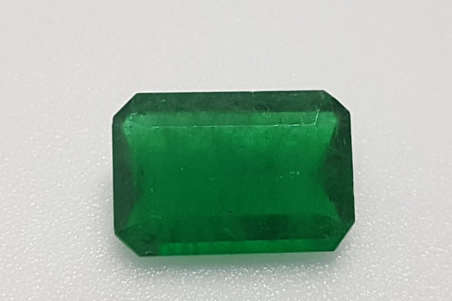 US $ 650 P/C, 3.48 Ct Natural Emerald vivid green transparent oiled only