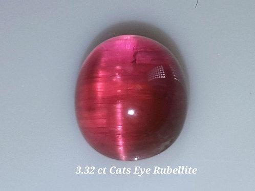 3.32 ct Natural Cats Eye Pink Tourmaline loose gemstone