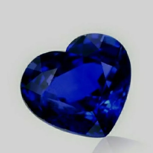 3.02 Ct Natural3Royal Blue Sapphire Heart Shape from Sri Lanka