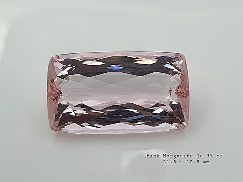 16.97 Ct Natural Pink Morganite from Brazil
