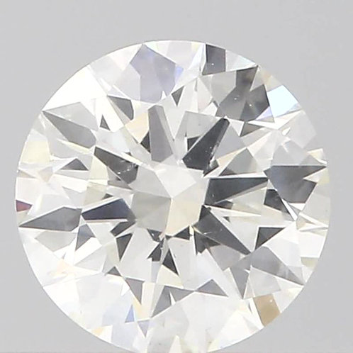 0.51 CT, H Color, GIA CERTIFIED DIAMOND SOLITAIRE, H COLOR, SI1, 3EX