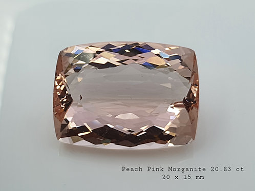 US $65/ct, 20.83 ct Natural Pink Morganite from Brazil