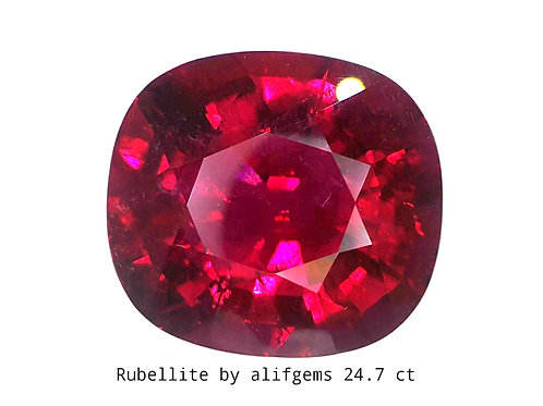 24.7 ct Natural Rubellite Tourmaline  loose gemstone