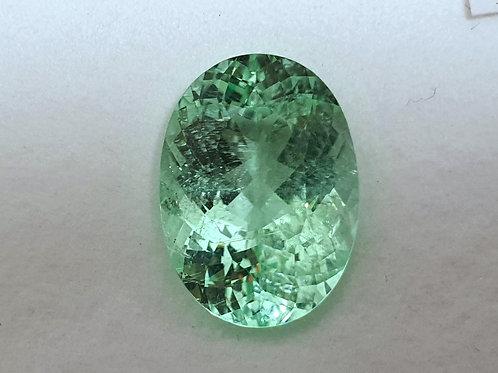 13.18 carat Natural Paraiba Tourmaline Neon Green from Mozambique