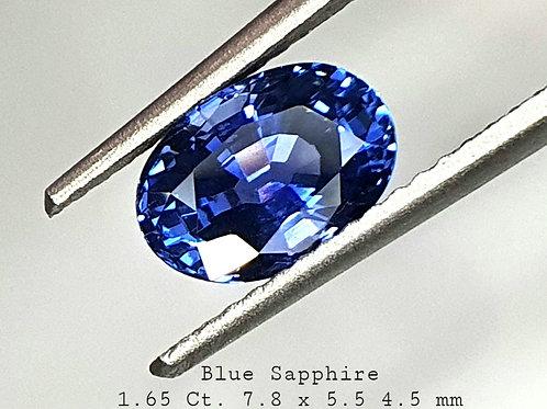1.65 Carat Natural Blue Sapphire
