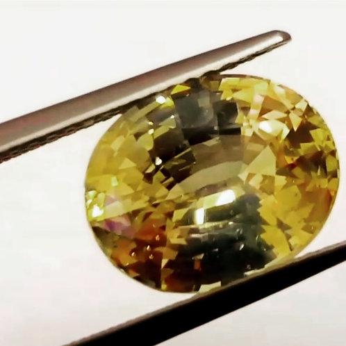 4.88 Cts Natural Yellow Sapphire (Pokhraj) No Heat from Sri Lanka