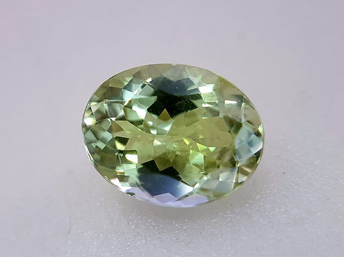 2.08 ct Natural Green Tanzanite loose stone from Tanzania