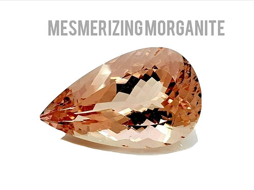 46.6 ct Morganite Pear natural gemstone from Brazil