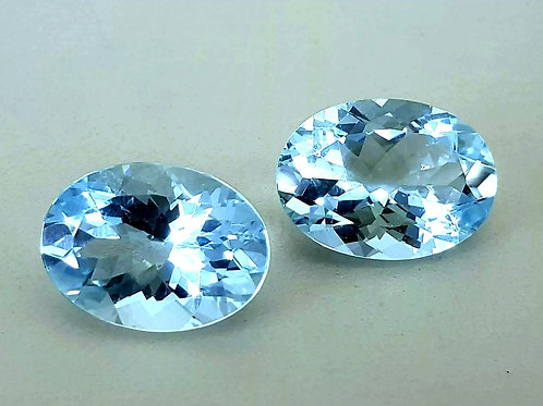 21.42 ct Natural Aquamarine pair from Brazil