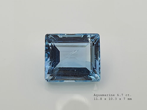 Natural Aquamarine 6.70 ct gemstone