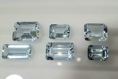 US $35 P/C, 15.26 Ct Natural Aquamarine 6 pcs.