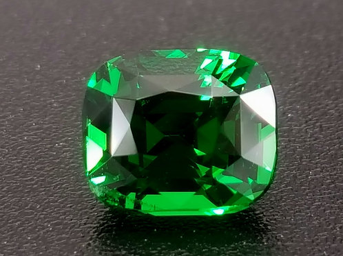 2.08 ct Natural TSAVORITE Garnet Intense Emerald Green , check Video
