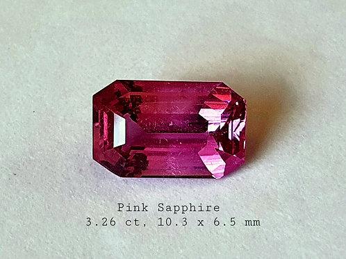 US $2000 PC / 3.26 carat Pink Sapphire from sri lanka