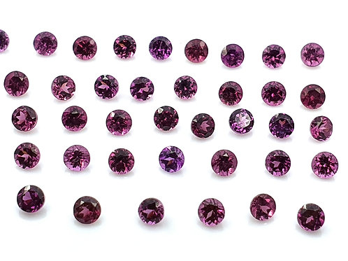 126 carats, Natural Purple Garnet 3 mm round